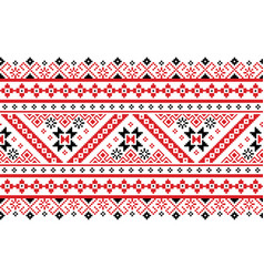 ukrainian belarusian folk seamless pattern vector image