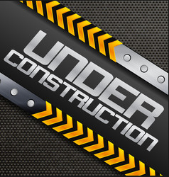 Under construction sign on a textured background vector