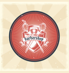 vintage badge sticker sign with vector image