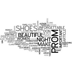 What shoes should you wear for unforgettable prom vector