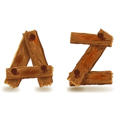 Wooden A and Z vector
