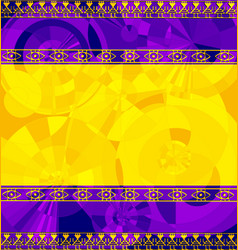 Yellow purple colored image of frame with abstract vector