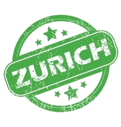 Zurich green stamp vector