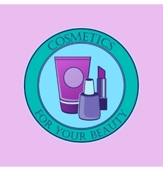 Cosmetics label for design vector image