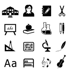 education and back to school icon set vector image vector image