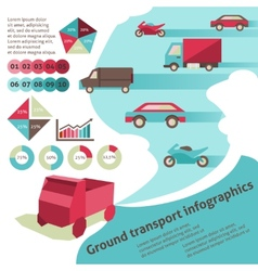 Ground transport infographics vector image vector image