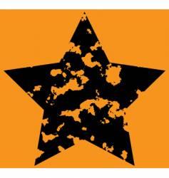star on orange background vector image vector image