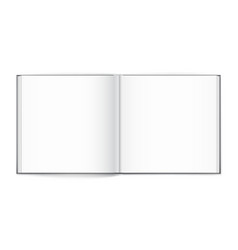 Blank of open square magazine on white background vector