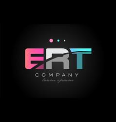 ert e r t three letter logo icon design vector image vector image