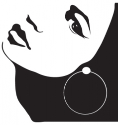 girl with earring vector image