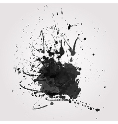 grunge background with black splash vector image