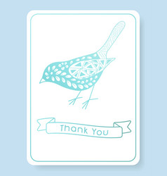 pattern for thank you invitation vector image vector image