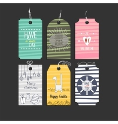 set paper badge sticker for holidays vector image vector image