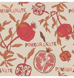 Vintage Pomegranate Pattern Background vector image