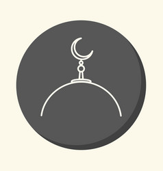 dome of a muslim mosque with a crescent on a spire vector image
