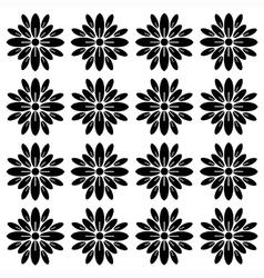 Flower block print pattern vector image vector image