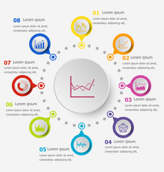 infographic template with graph icons vector image vector image