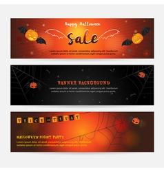 Set of happy Halloween banner background vector image