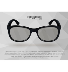 Strict eyeglasses in black and white vector image