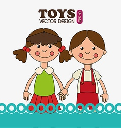 Toys design over white background vector image