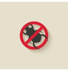 beetle warning sign vector image