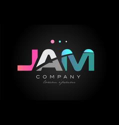 Jam j a m three letter logo icon design vector