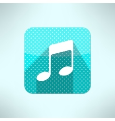 music note icon in modern flat design on a vector image vector image