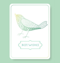 Pattern for best wishes invitation vector