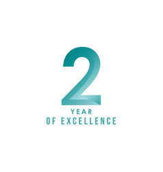 2 year excellence template design vector