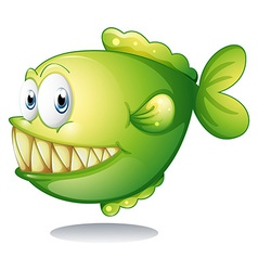 A big green fish vector image
