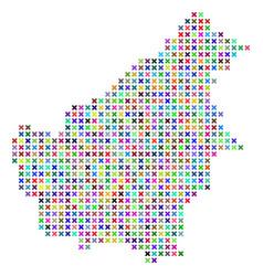 Abstract borneo island map vector