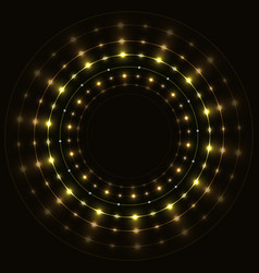 Abstract gold round frame vector