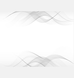 Abstract gray waving background with gray element vector