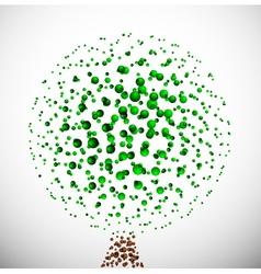 abstract molecular tree vector image