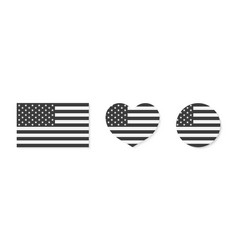 American flag icon usa patriot with star vector