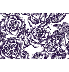 artistic seamless pattern with roses vector image