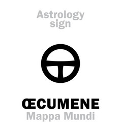 Astrology oecumene mappa mundi vector