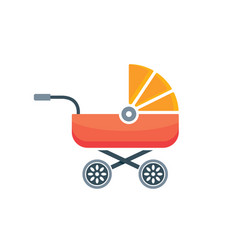 baby carriage icon buggy pram stroller silhouette vector image
