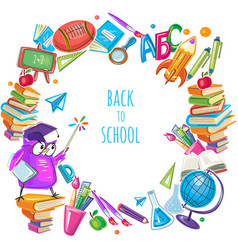 Back to school template frame vector