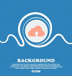 Backup icon sign Blue and white abstract vector