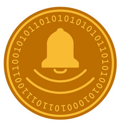 Bell digital coin vector