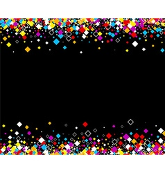 Black background with color rhombs vector image