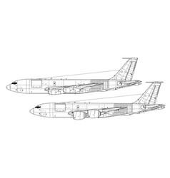 boeing kc-135 stratotanker vector image