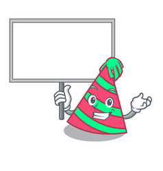 Bring board party hat character cartoon vector