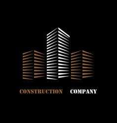 Building company logo vector