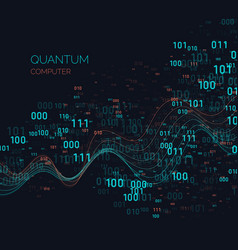calculation quantum computer analysis and data vector image