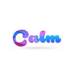Calm pink blue color word text logo icon vector