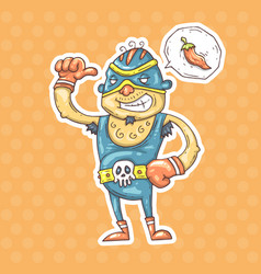 Cartoon mexican wrestler vector