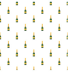 Champagne bottle pattern vector