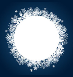 christmas label with blue background and snowflake vector image